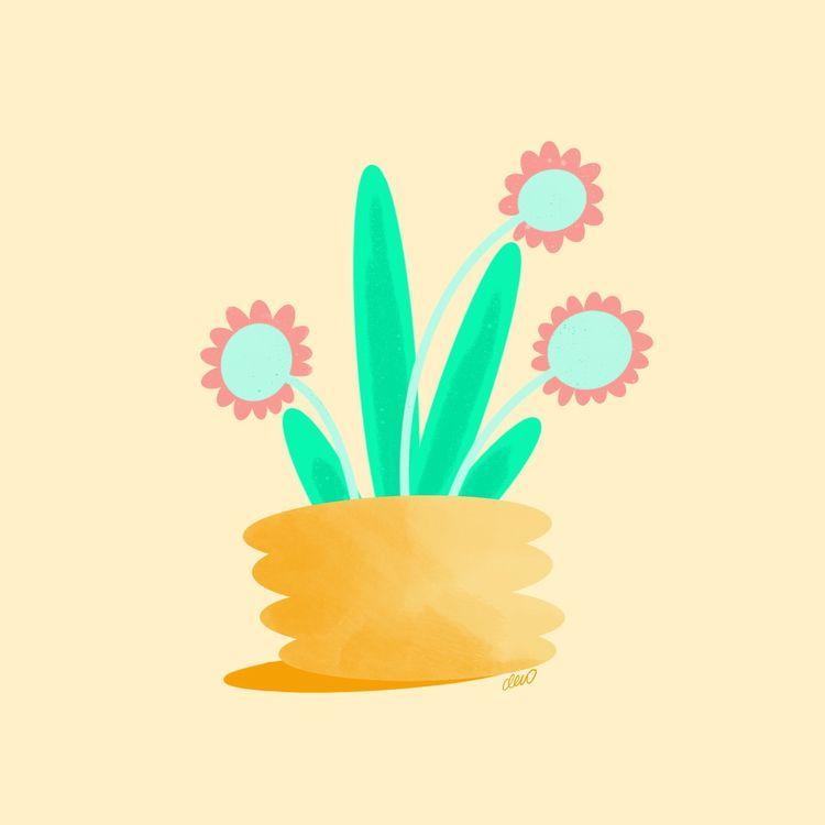 Happy flowers - carmenlew | ello