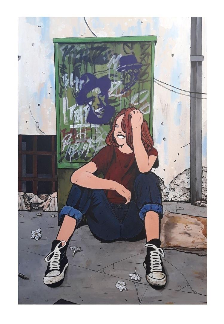 Smile Acrylic canvas 100x60 cm - diogorustoff   ello