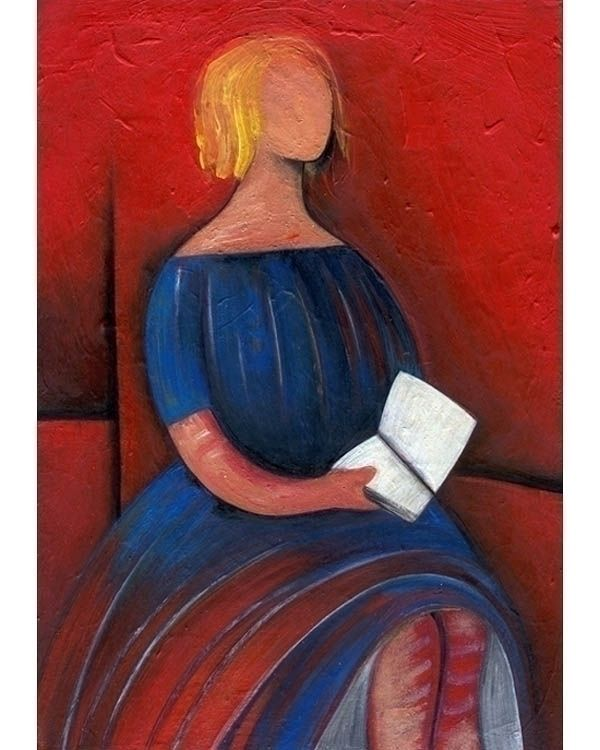 READER - Original acrylic paint - kolkalis | ello