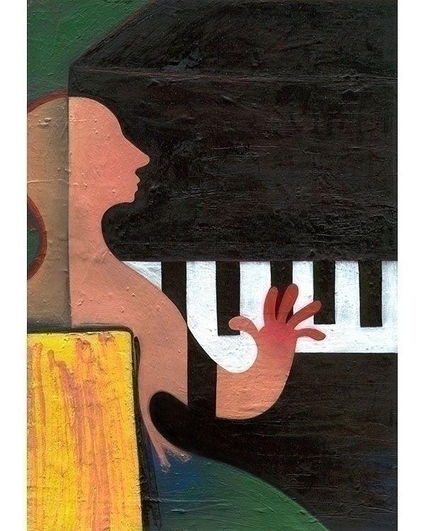PIANO / PIANIST - Original acry - kolkalis | ello