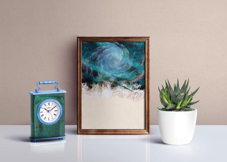 Sea Vortex Art Print - Creativeaxle - creativeaxle | ello