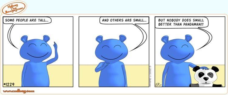size matter - cute, panda, comic - ndbag   ello