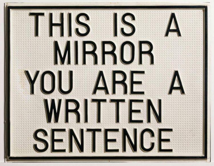 Luis Camnitzer - mirror, words, conceptualart - earways | ello