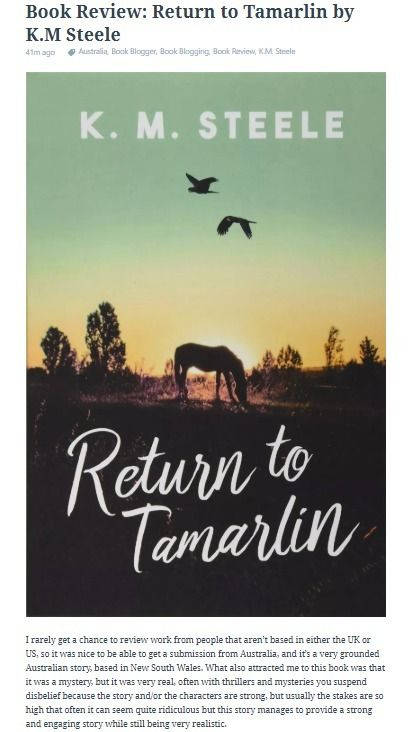 Book Review: Return Tamarlin St - offtherecordblog | ello