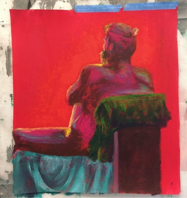 throwing favorite pieces - lifedrawing#oilpastel#acrylicpaint - pbrivera7 | ello