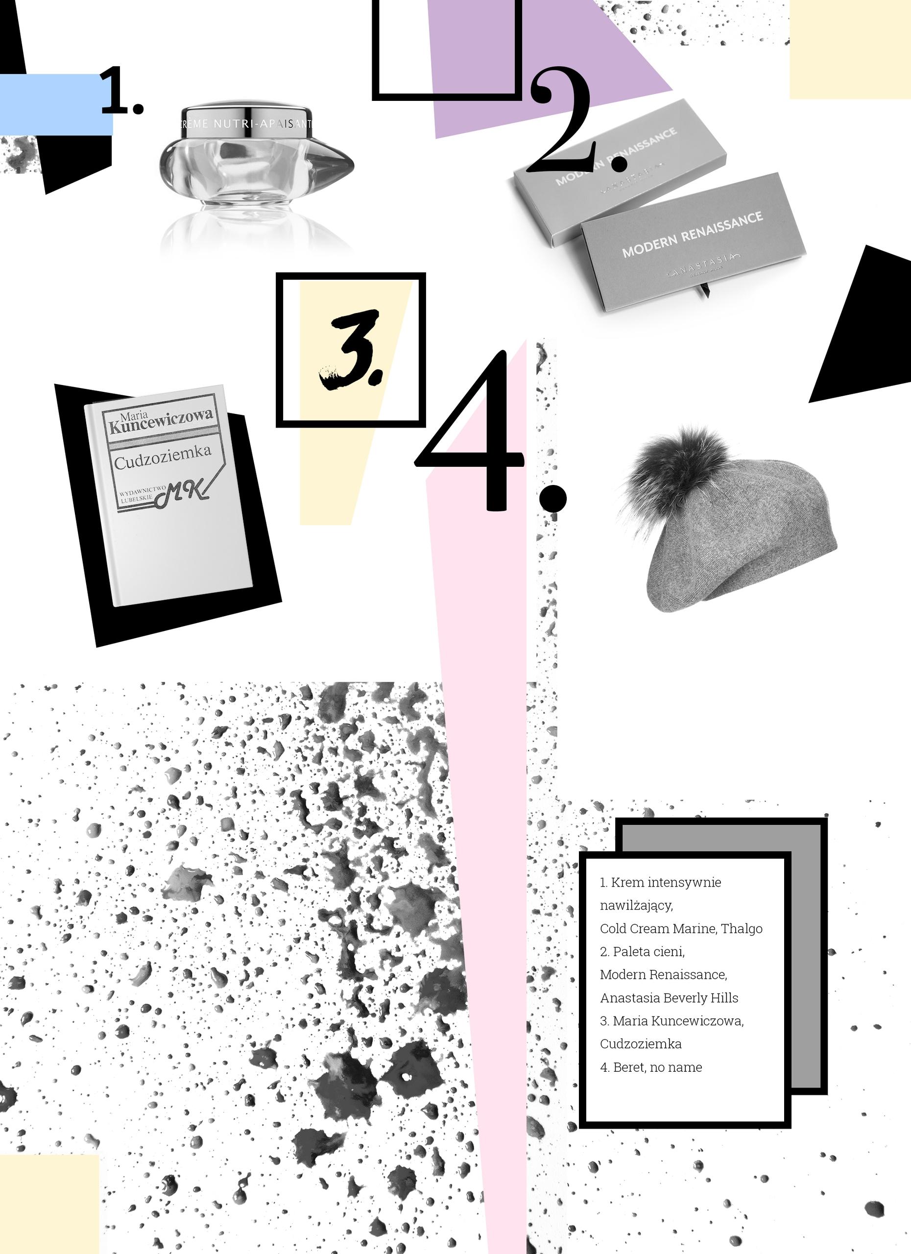 Obraz przedstawia grafikę złożoną z czarno-białych zdjęć, cyfr i kolorowych kształtów.