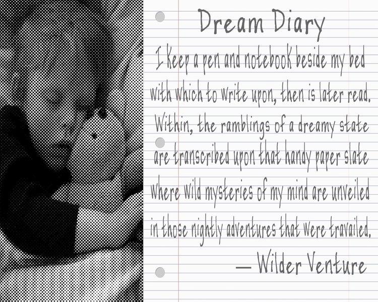 Dream Diary pen notebook bed wr - wilderventure | ello