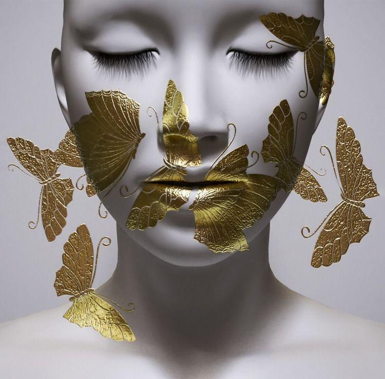 Silence - 3D#, butterfly, digital - z3rogravity | ello