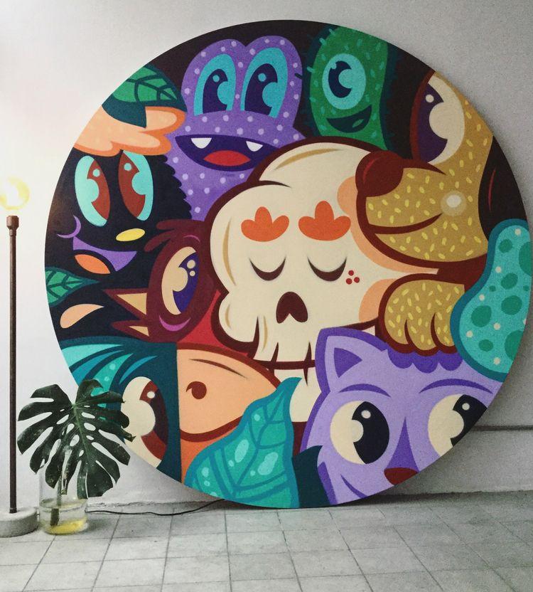 Canvas spraypaint - buethewarrior | ello