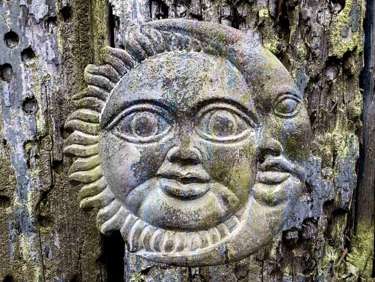 Sun, Moon Wood (2018 - wood, faded - phil_levene | ello