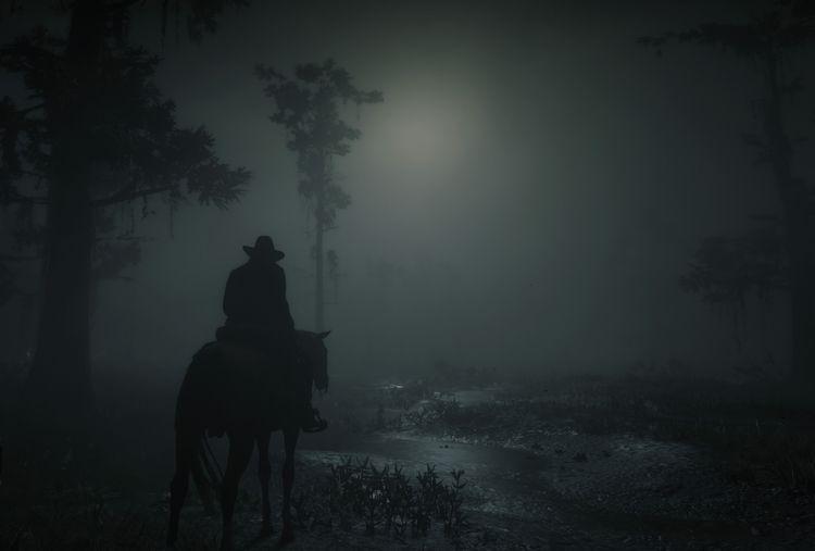 Arthur travels road night swamp - cirroccojones | ello