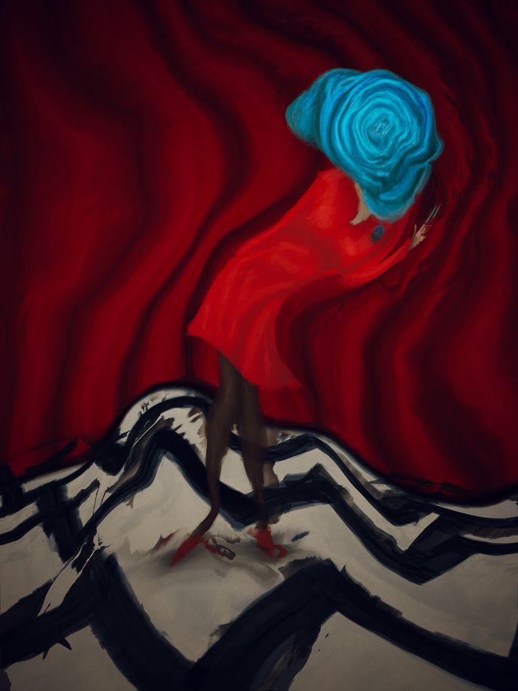 girl. ahsheegrek - painting, illustration - ahsheegrek | ello