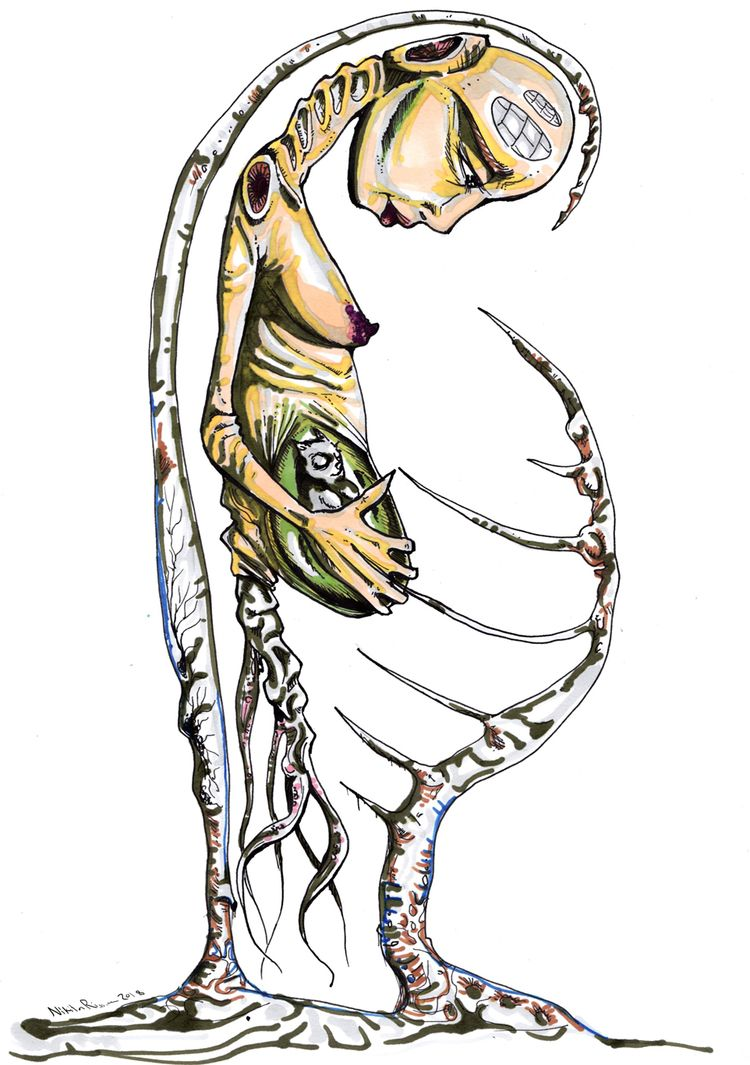Mama ink colors - illustration, art - nikita_r | ello