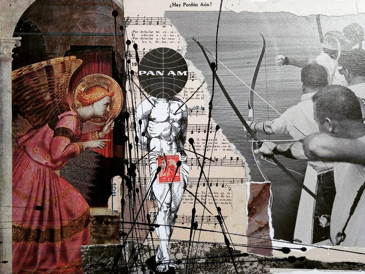 art, collage, sansebastian, arrow - sanchezisdead | ello