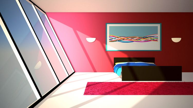 Pleasant bedroom - illustration - laurencejmoss | ello