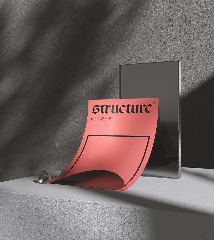 Structure - poster, 3d, typography - visua | ello