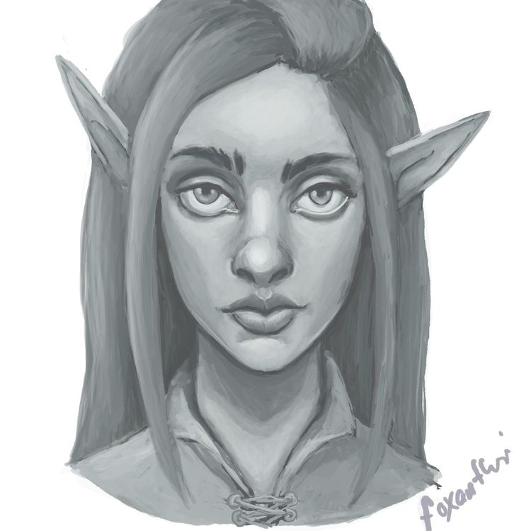 quick elf girl sketch week proc - foxantheri | ello