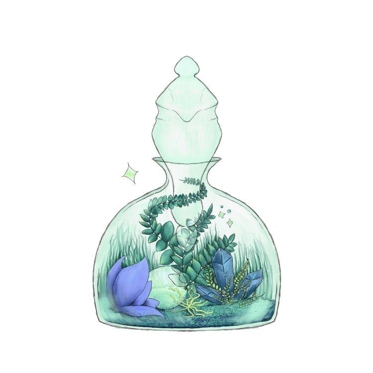 Magical Terrarium - sticker - magic - fickle_muse | ello
