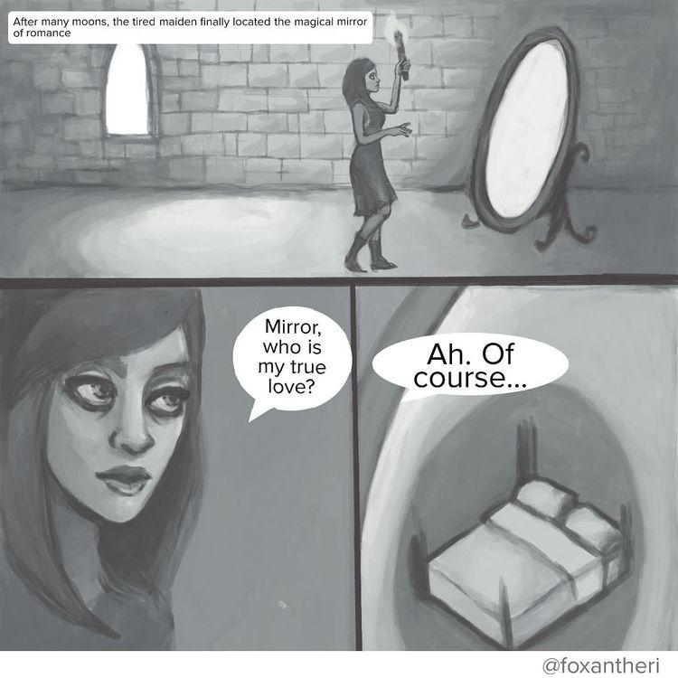 small comic magic mirrors - foxantheri | ello