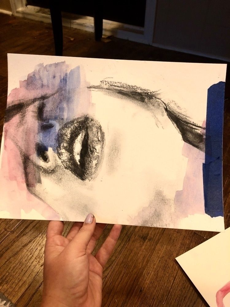 Charcoal master study painting - blflood | ello