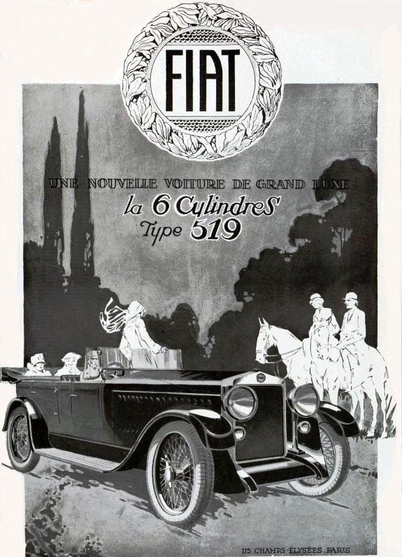Fiat (1924 - 1920s, advertising - coolvintagecars | ello