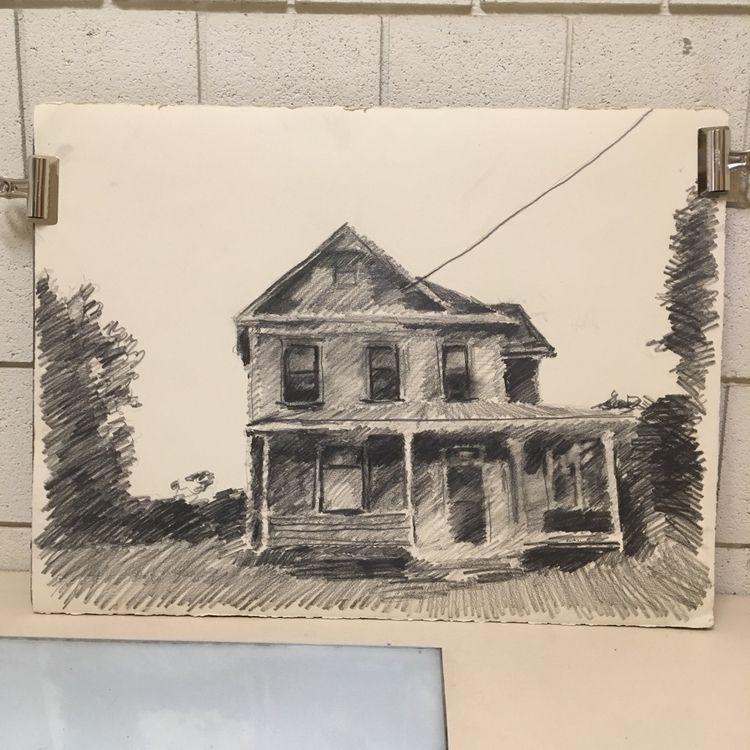 House. •• 22 30 inches, graphit - brunkenart | ello
