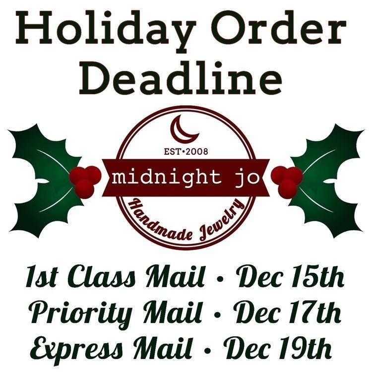 weeks left Holiday orders Shop  - midnightjo | ello