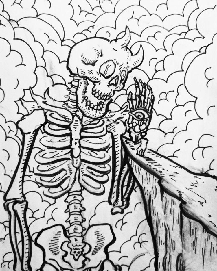 illustration, artsnacks, ink - boitediaboliq | ello