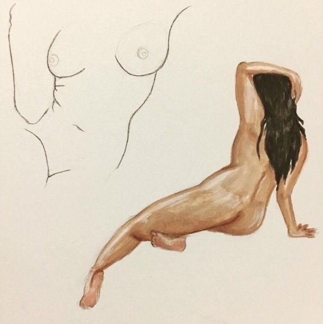 Female figure studies - lifedrawing - nicosantamorena | ello