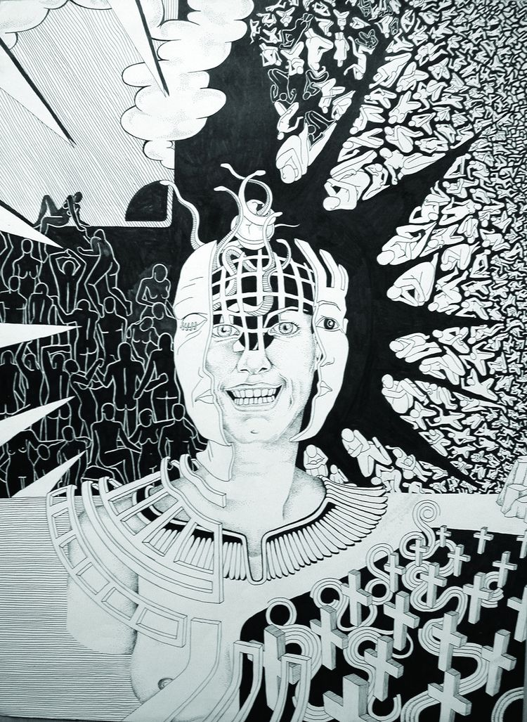 title - blackandwhite, ink, snake - rhodis | ello