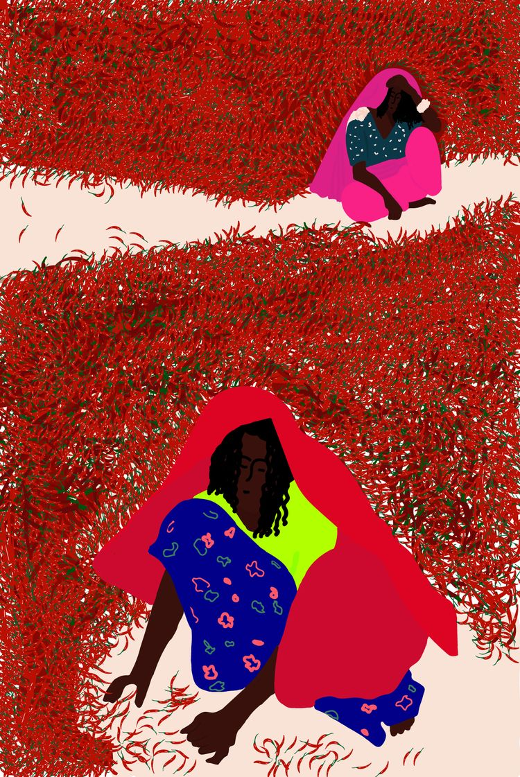 illustration, woman, art, india - sandramaher_ | ello