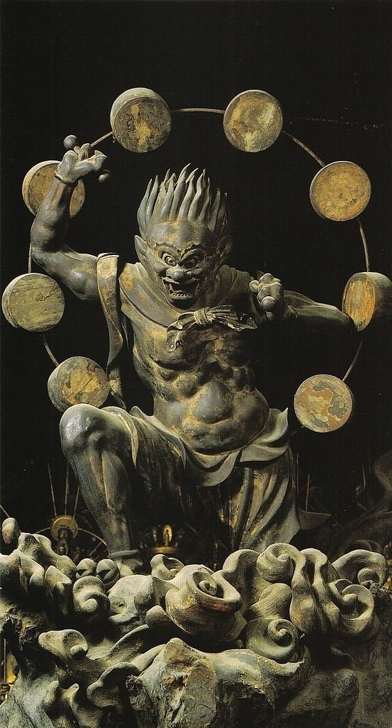 Raijin, Shinto god thunder hold - arthurboehm | ello