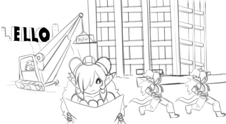 Construction, settle - sketch, myart - darkeros | ello