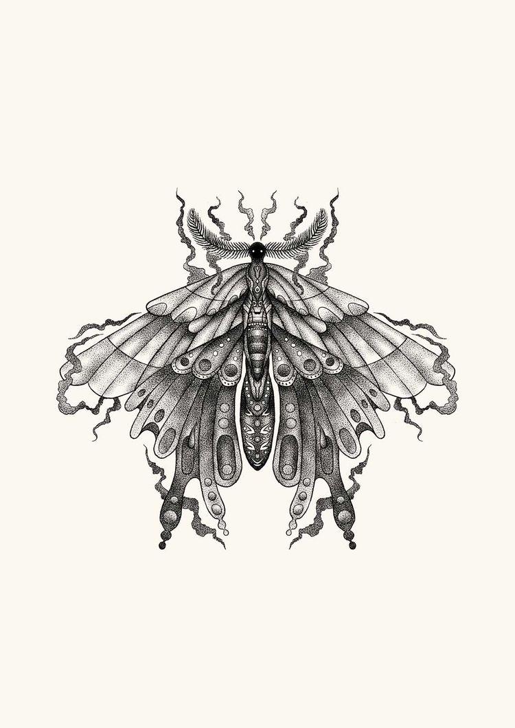 Black Moon Moth - heymikel   ello