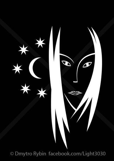 Woman moon - woman, girl, fashion - dmytroua | ello