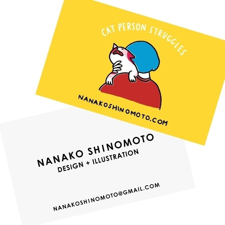 business card cat loves - catperson - nanako_ | ello