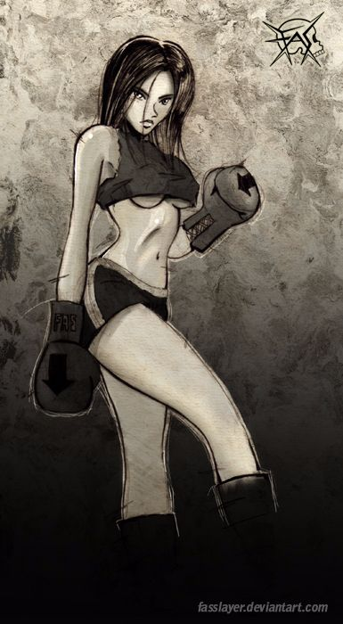 Female boxer illustration . 18 - fasslayer | ello
