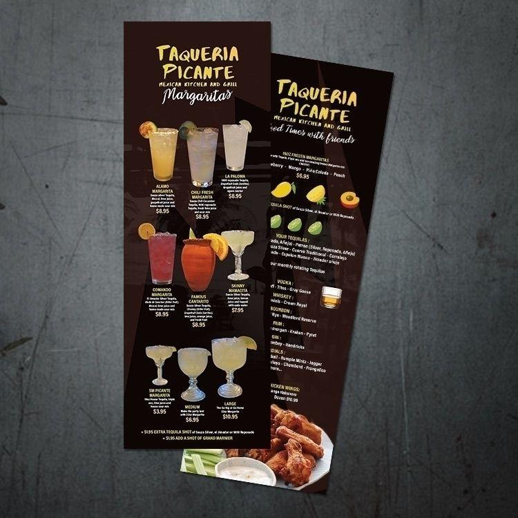 Taqueria Picante Drink Menu Des - ochena_design | ello