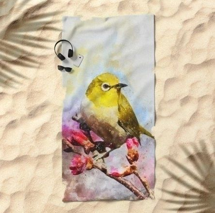 Watercolor Yellow Bird Beach To - creativeaxle | ello