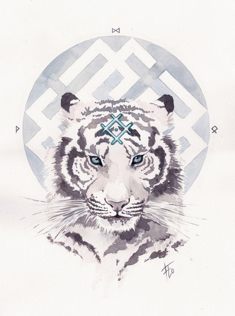 Tiger beautiful living creature - flolmi | ello