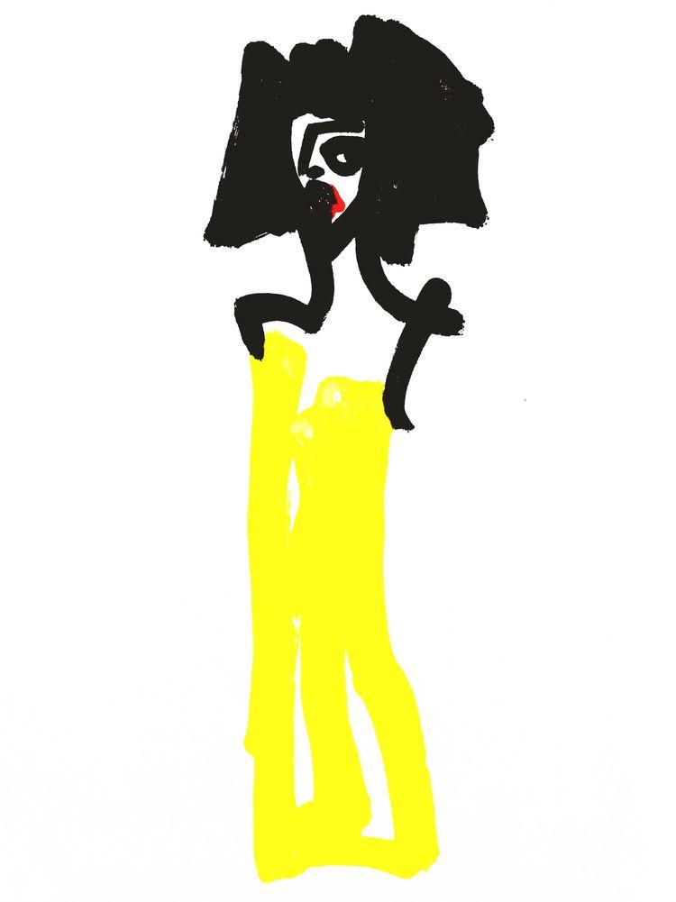 Woman Yellow Strapless Dress pa - jkalamarz | ello