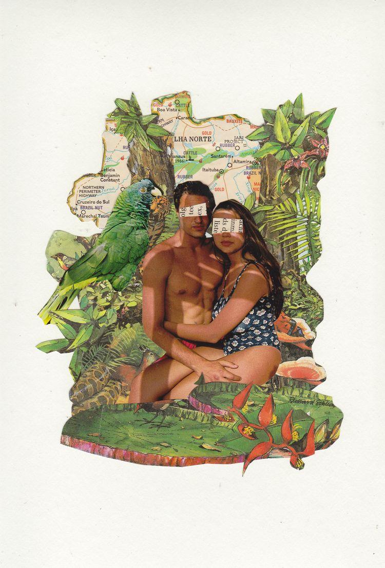 Jungle Love Collage Jeanne Teol - jeanneteolis | ello