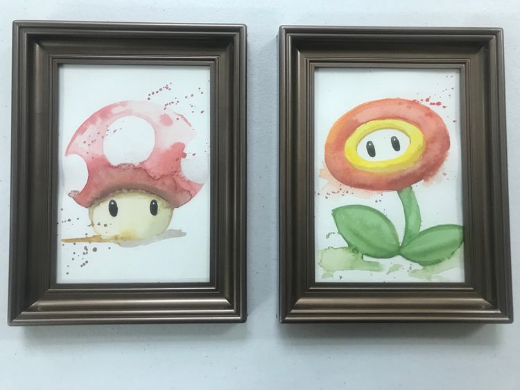 guys - original watercolors $40 - smushbox | ello