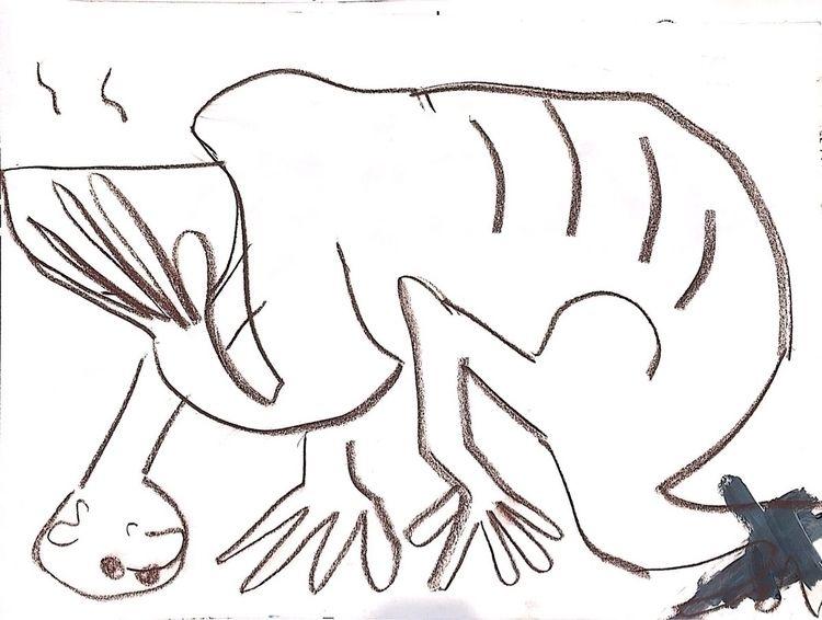 Barra conté acrílico papel A3 - drawing - jaimemv | ello