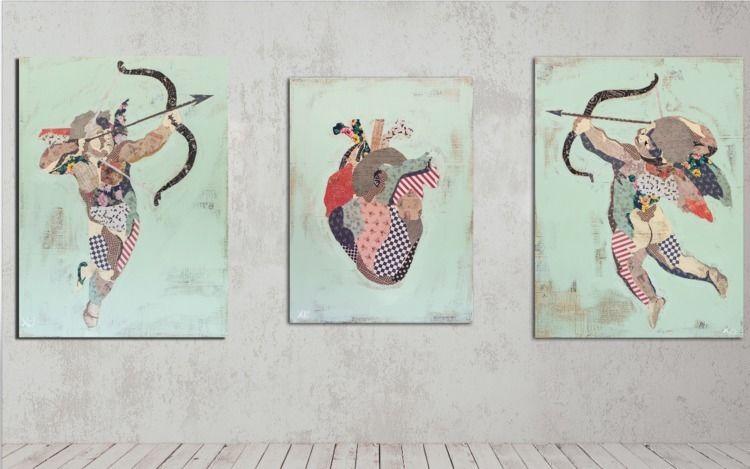 "Triptych (2) 48"" 36"" 1.5"", (1)  - kylemosher | ello"