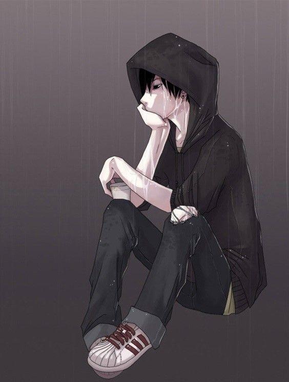 Sad Boy Rain Art Photography. V - kh-zain   ello