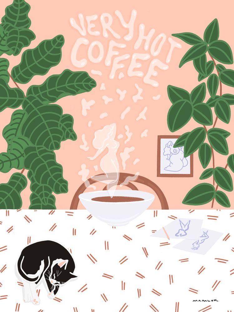 hot Coffee.  - goodmorning, coffee - mamlok | ello