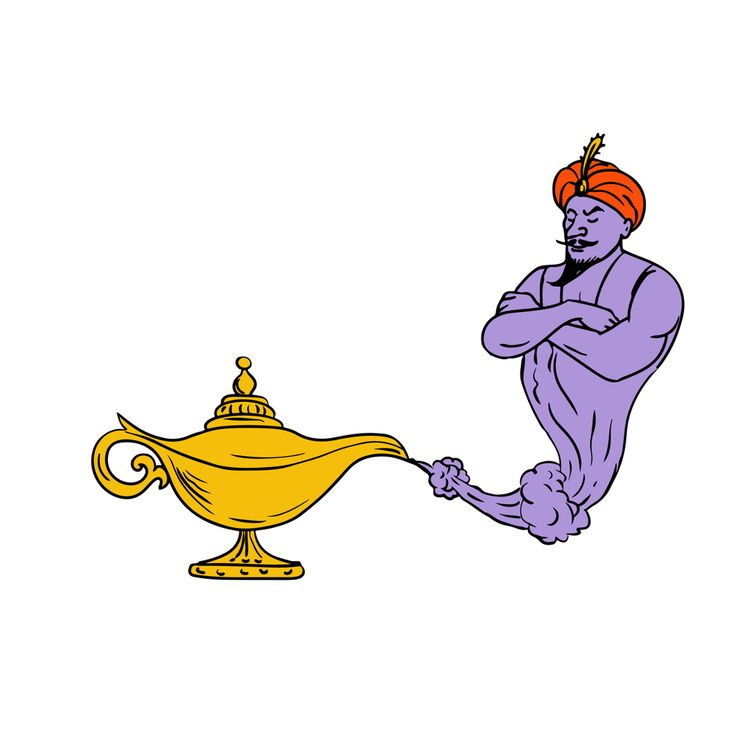 Genie Coming Golden Oil Lamp Dr - patrimonio   ello