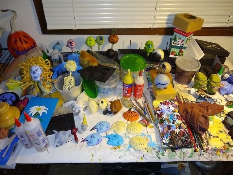 painting station. mess - zombienose - zombienose | ello