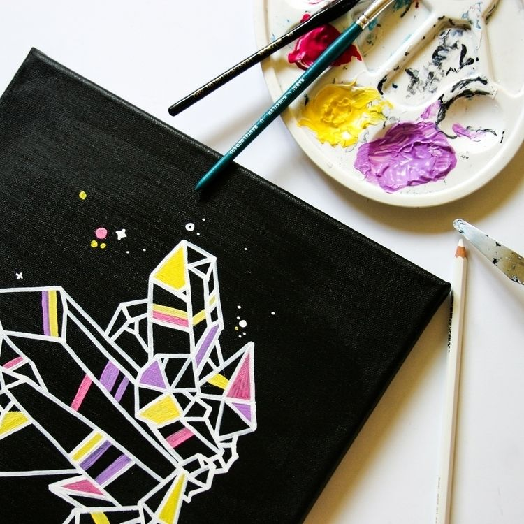 Acrylic paint marker canvas - workinprogress - doriferenczi | ello